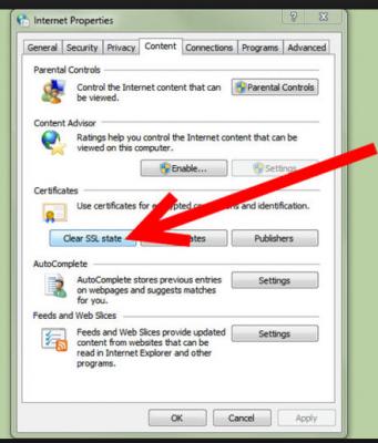 Clear SSL state: Error15223