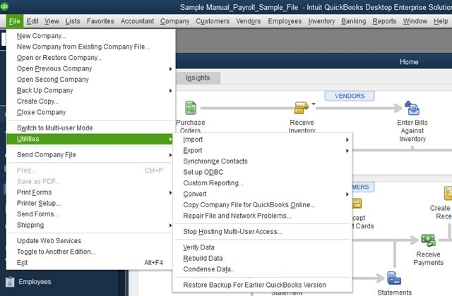 Stand-alone version: File doctor tool Quickbooks