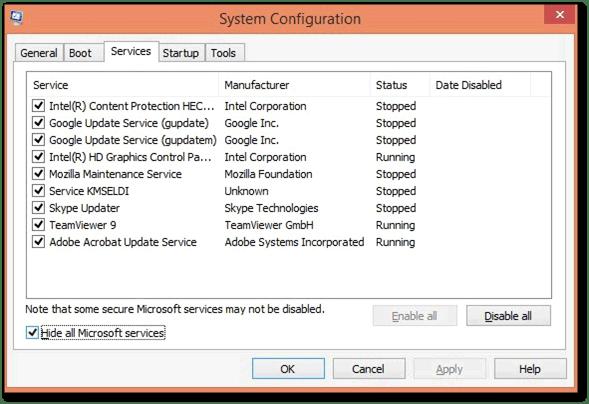 Install Quickbooks in selective startup mode: Quickbooks essentials error 15270