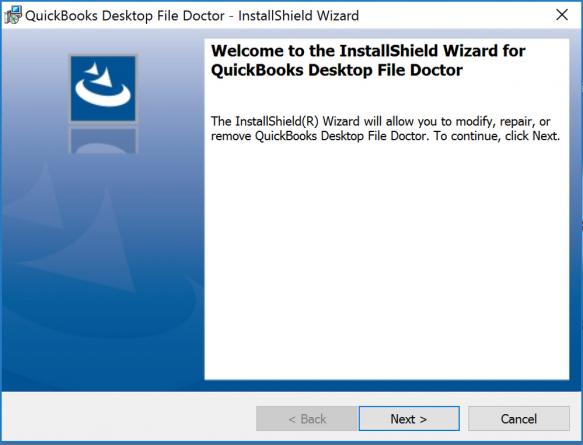 Installation window: Quickbooks file repair