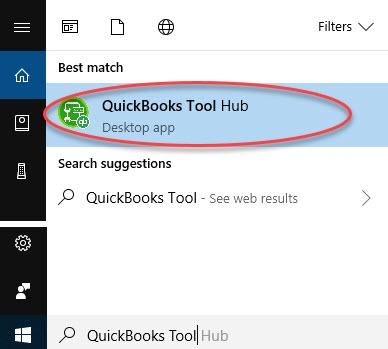 Quickbooks tool hub: Quickbooks won t open Windows 10