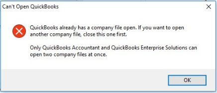 Error message: Quickbooks won't open Windows 10