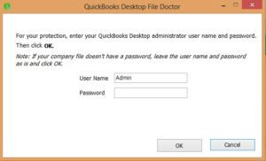 Screenshot: Steps to use File doctor tool