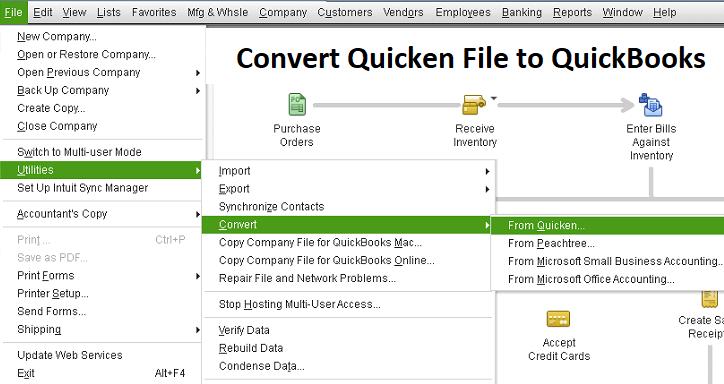 Main image: convert Quickbooks to Quicken