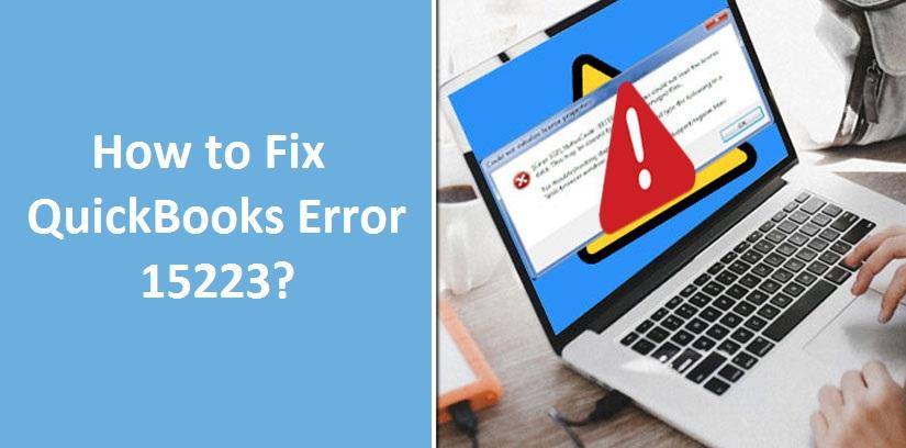 featured image: Quickbooks error 15223